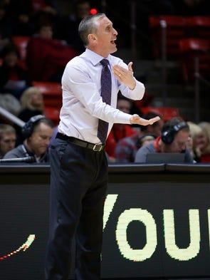 Arizona State coach Bobby Hurley calls to his players