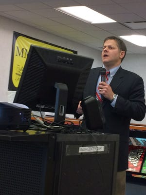 Cedar Grove Superintendent of Schools Michael Fetherman talks about the district's STEAM programs at a Tuesday, Dec. 20, 2016 Board of Education meeting.
