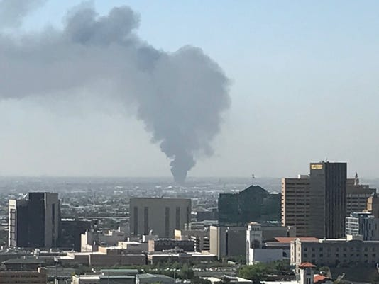 Juarez auto parts store fire