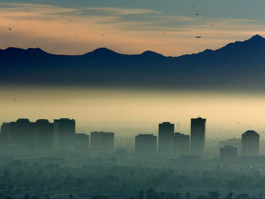 Phoenix Skyline Air Pollution
