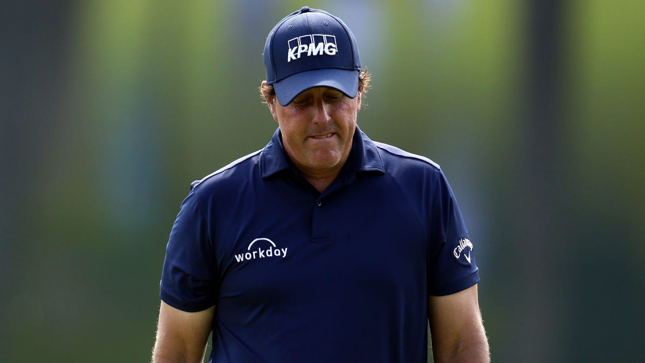 Phil Mickelson finished 11-over at Quail Hollow and missed the cut at the PGA Championship for the first time since 1995.