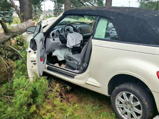 This vehicle was involved in a crash Wednesday afternoon in Dover Township.