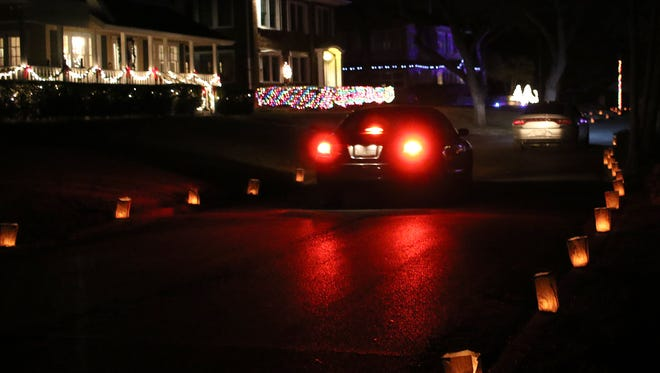 Saturday and Sunday the Morningside Luminaries were on display for Christmas. Cars drove through Morningside to see more than 1,500 candles inside paper bags and homes decorated with Christmas lights.