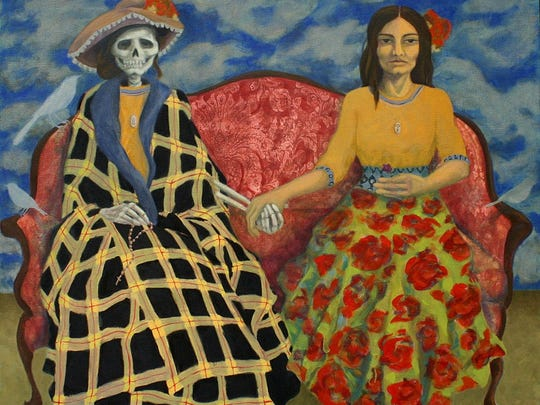 Alison Dilworth's paintings and murals can be found in private and public spaces throughout Philadelphia. Some of her work draws upon Day of the Dead imagery.