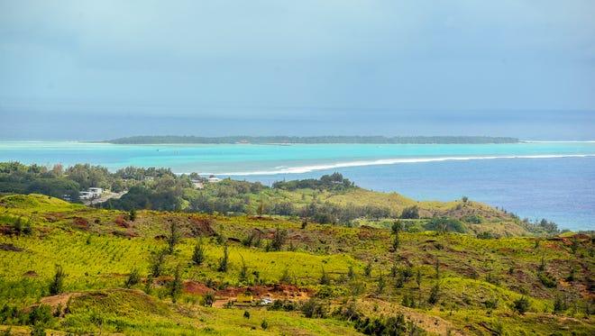 Cocos Island and the Merizo lagoon.