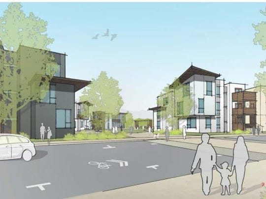 A view of the southern part of the proposed new development at Lee Walker Heights.