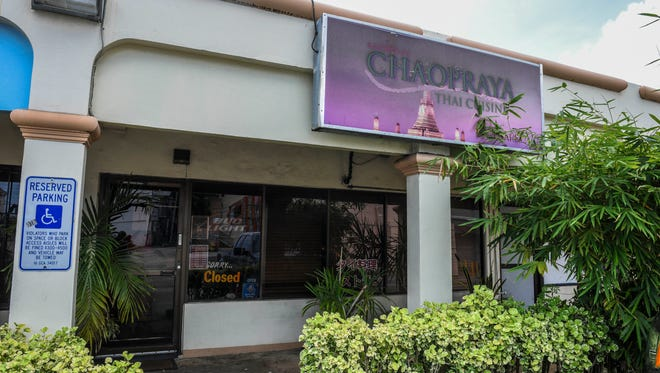 The front exterior of the Chaopraya restaurant in Tamuning on Saturday, April 28, 2018.