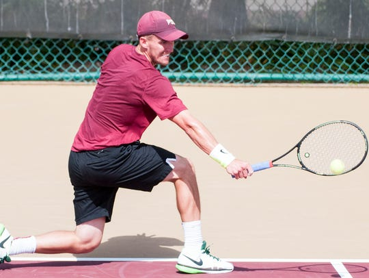 Michael Rinaldi won his singles match 6-3 helping FSU