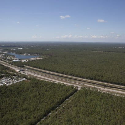 FILE - Looking north, just north of I-75, a proposed
