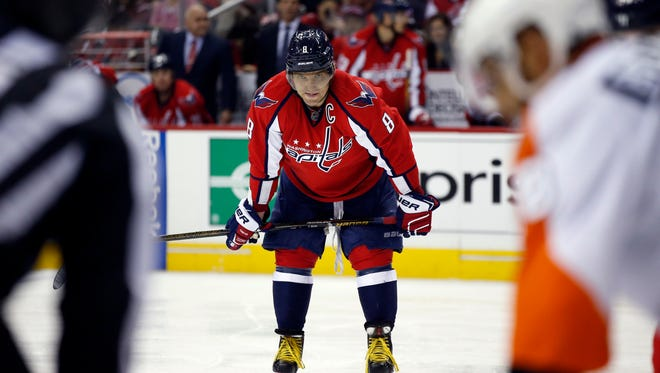Alex Ovechkin's Washington Capitals took penalties leading to four Flyers power plays in Game 1 Thursday.