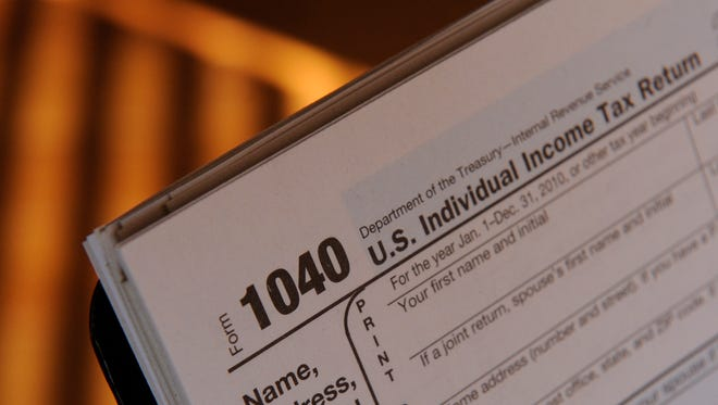 Photos of federal tax forms.