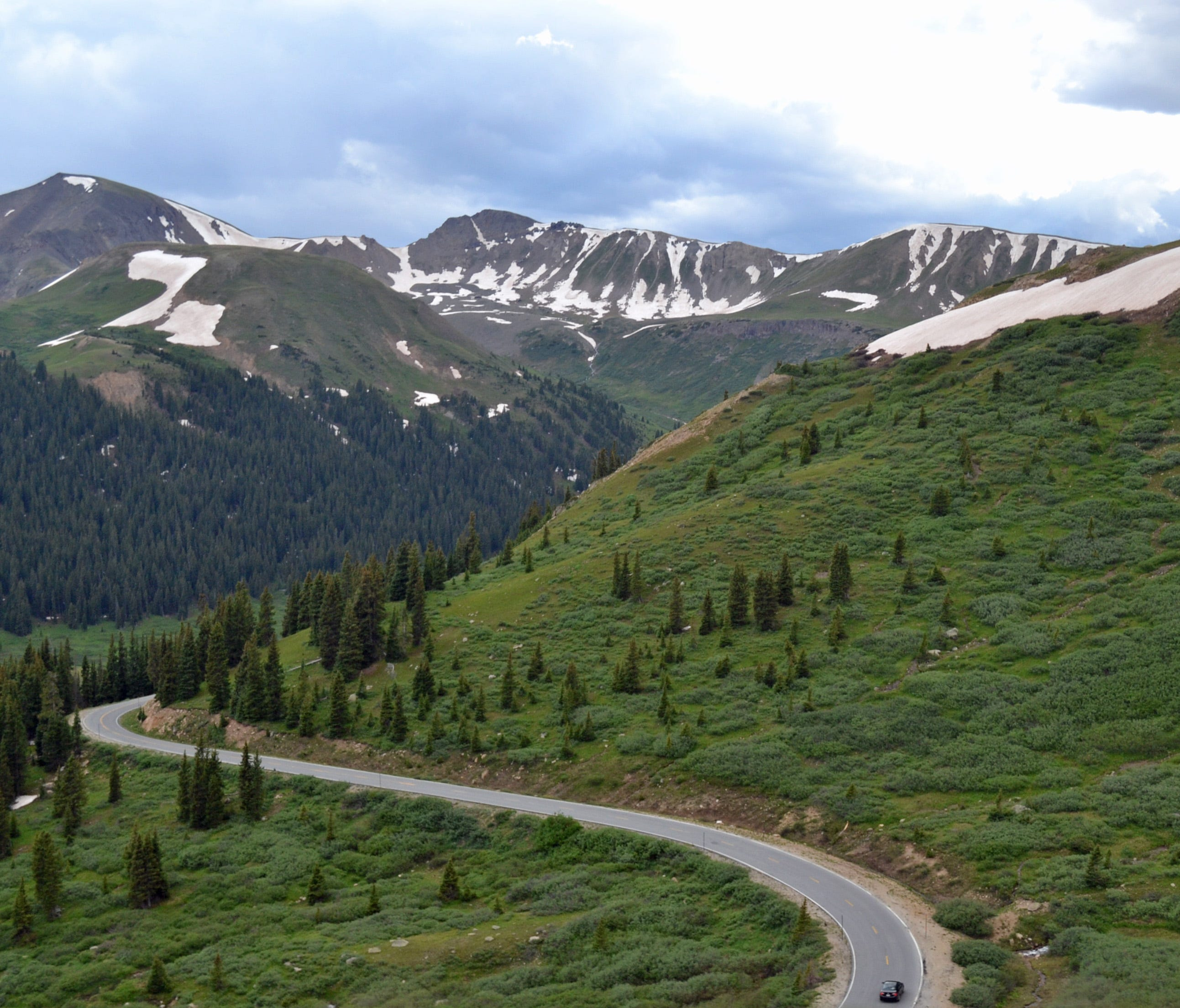 Colorado  Independence Pass  The highest paved state highway in Colorado, and also one of the most scenic, is called Independence Pass. Beautiful panoramic views of the Sawatch Range of the Rocky Mountains can be seen. Due to snow and harsh conditions,