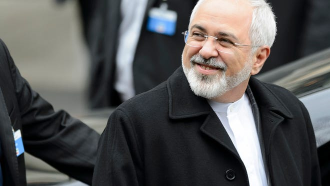 Iranian Foreign Minister Mohammad Javad Zarif leaves the Beau-Rivage Palace after five days of bilateral meetings with U.S. Secretary of State John Kerry during a new round of nuclear talks, in Lausanne, Switzerland, on March 20, 2015.