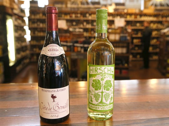 For the international board, a Stephane Aviron 2014 Cote de Brouilly (left) and a Gruner Veltliner white are recommended.