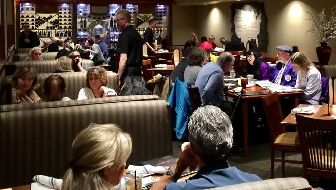 Friday night diners at C.R. Gibbs American Grille on Hilltop in Redding.