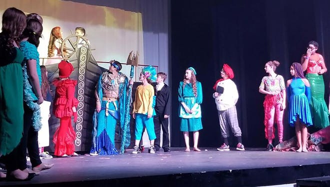 The live stage production of Little Mermaid Jr. presented by Fairview Middle School theater students.