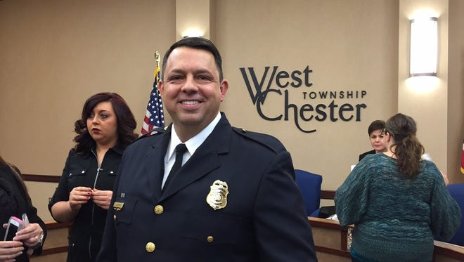 Joel Herzog was unanimously elected West Chester's new police chief by the township's trustees.