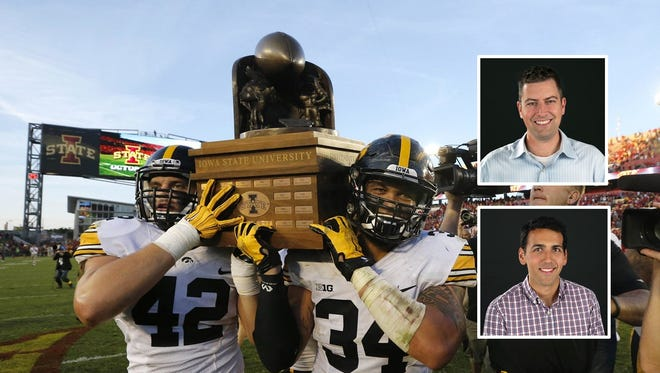 Can the Hawkeyes hold on to their Cy-Hawk trophy on Friday?