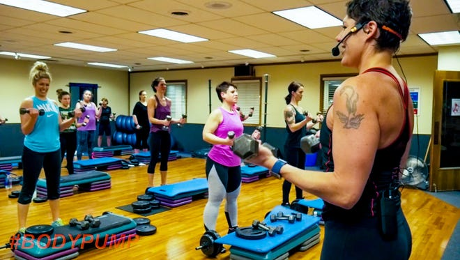 BodyPump is a low weight, high repetition total body toning program  offered at Access Fitness, which is celebrating its 40th anniversary this year.