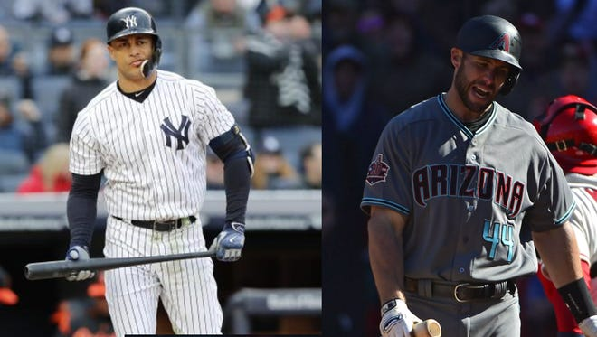 Giancarlo Stanton and Paul Goldschmidt are off to slow starts in 2018.