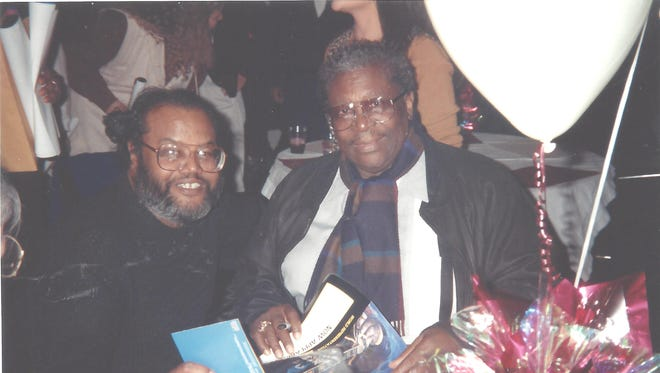 """""""The thrill of meeting B.B. King will never be gone,"""" said Cornelius Black, left."""