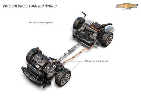 The new Chevrolet Malibu hybrid will use the same hybrid