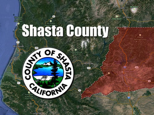 Shasta County region map