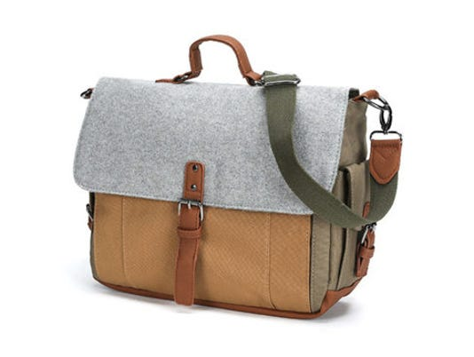 Canvas & Wool Messenger