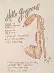 Hey Lady heels, designed for Lea Michele