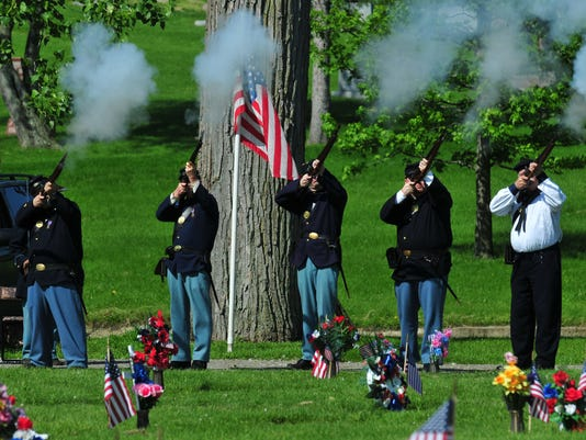 Memorial Day service at Earlham Cemetery
