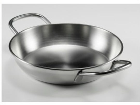 Stainless steel skillets are best for stir-fries, pan sauces and seared meat, chicken and seafood.