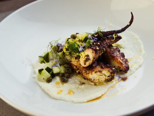 Zatar-rubbed octopus, a dish at the Conserva in Ferndale.