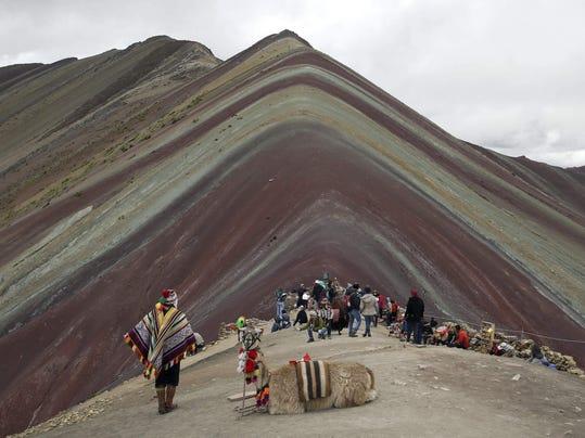 APTOPIX Peru Rainbow Mountain