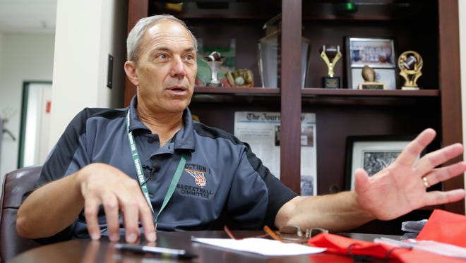 Yorktown High School athletic director Fio Nardone photographed on July 19, 2016.