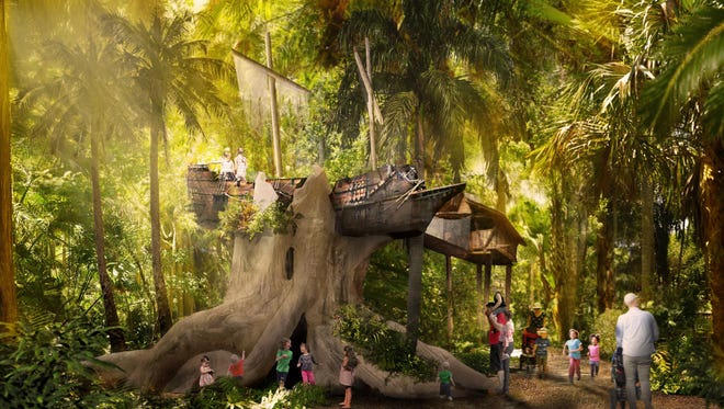 A pirate ship treehouse will be one of the features of the Children's Garden at McKee.