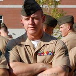 Sgt. Daniel Knapp, a rifleman with 2nd Battalion, 8th Marines, at Camp Lejeune, North Carolina, argues leaders should overhaul the service's tattoo regulations with an eye towards combat readiness and to reflect changing societal norms after his ink cost him reenlistment.