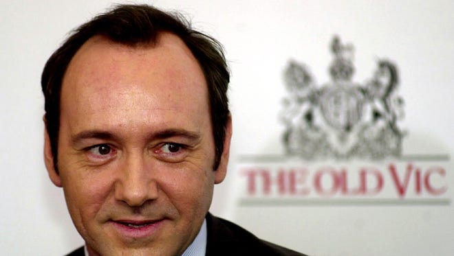 Kevin Spacey attends a press conference in London in 2005 for The Old Vic theater.