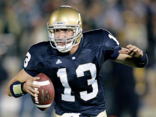 Former Marshall standout Evan Sharpley was a starting quarterback at Notre Dame