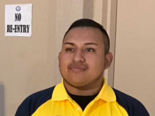 Erick Silva,21, a security guard working at the Route