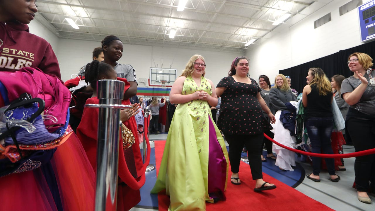 The Junior League of Tallahassee holds its annual Operation Prom event at the Palmer Munroe Teen Center on Saturday, February 3, 2018. The day featured a boutique shopping experience with dresses, shoes and a red carpet walk free to local students.