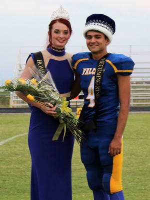 Samantha Breeding, left, and Angel Marquez are the Veribest 2017 homecoming king and queen.