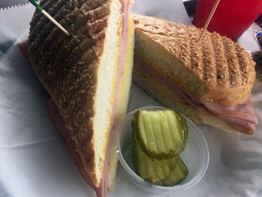 Ham and Swiss Pannini