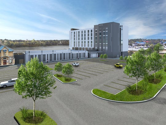 The 122-room hotel planned for construction on the
