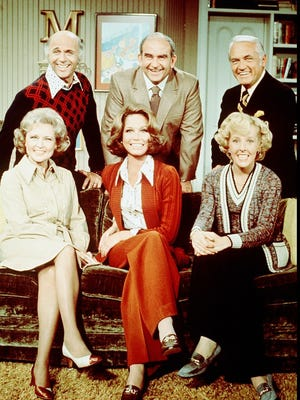 """-Cast of """"The Mary Tyler Moore Show"""" featured desert residents Gavin MacLeod (top left) and Joyce Bulifant, who isn't pictured."""