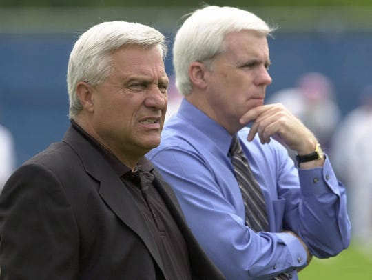 Tom Donahoe (right) hired Tom Modrak in Buffalo in