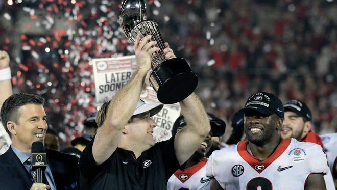 Georgia coach Kirby Smart and the Bulldogs held off Oklahoma in the Rose Bowl.