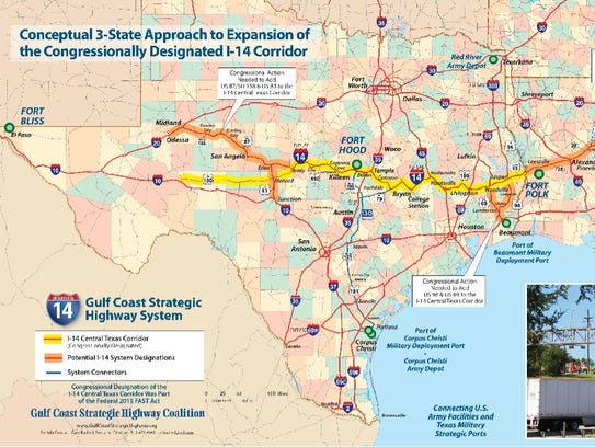 Interstate 14  San Angelo Leaders Travel To D C  To Talk