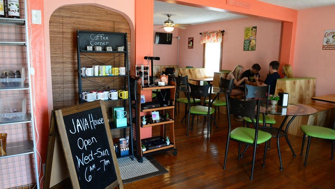 Inside of Java House coffee shop that recently opened in Chincoteague, Va. on Thursday, July 11, 2018.