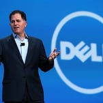 SAN FRANCISCO, CA - SEPTEMBER 25:  Dell CEO Michael Dell delivers a keynote address during the 2013 Oracle Open World conference on September 25, 2013 in San Francisco, California. The week-long Oracle Open World conference runs through September 26.  (Photo by Justin Sullivan/Getty Images)