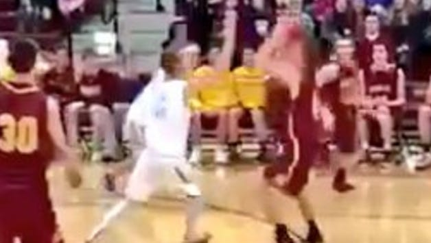 Video from a last-second shot during Roosevelt's game at Harrisburg shows the shooter's foot wasn't behind the line.